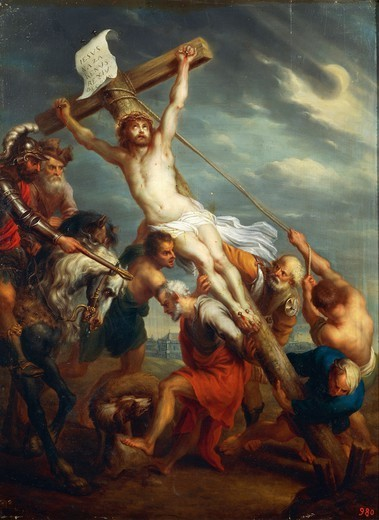 Stock Photo: 1788-51120 Elevation of the Cross, by Jacob Andries Beschey (1710-1786).