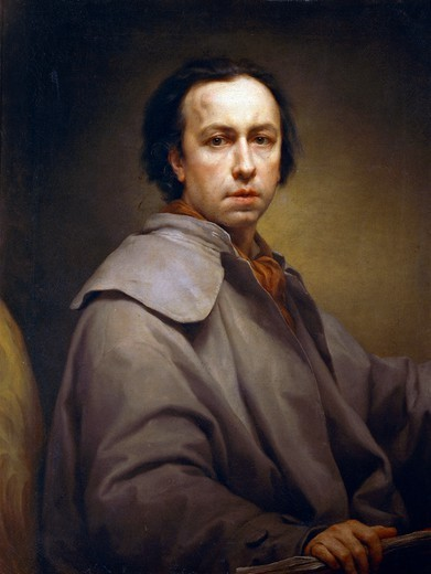Stock Photo: 1788-51181 Self-Portrait, ca 1776, by Anton Raphael Mengs (1728-1779), oil on canvas, 89x68.5 cm.
