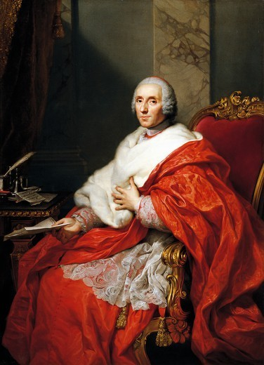 Stock Photo: 1788-51206 Portrait of Cardinal Alberico Archinto, painted after 1756, by Anton Raphael Mengs (1728-1779), oil on canvas, 155x113 cm.