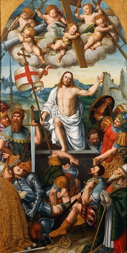 The Resurrection of Christ, by Giuseppe Giovenone (1524-1608). : Stock Photo