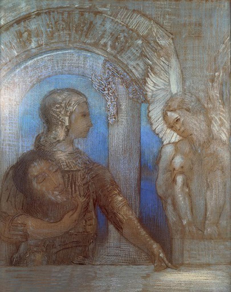 Stock Photo: 1788-51297 The mystic knight, by Odilon Redon (1840-1916).