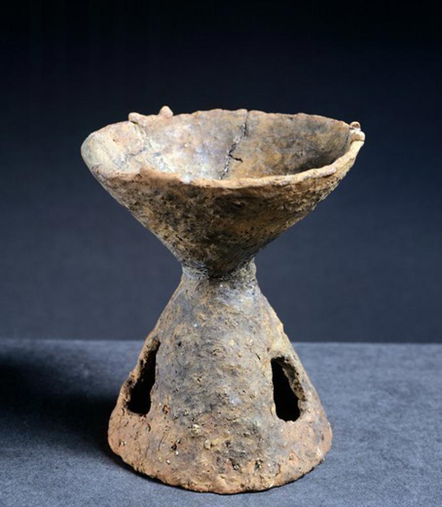 Stock Photo: 1788-51441 Ceramic incense burner, Poland. Lusatian Culture, 7th - 5th Century BC.