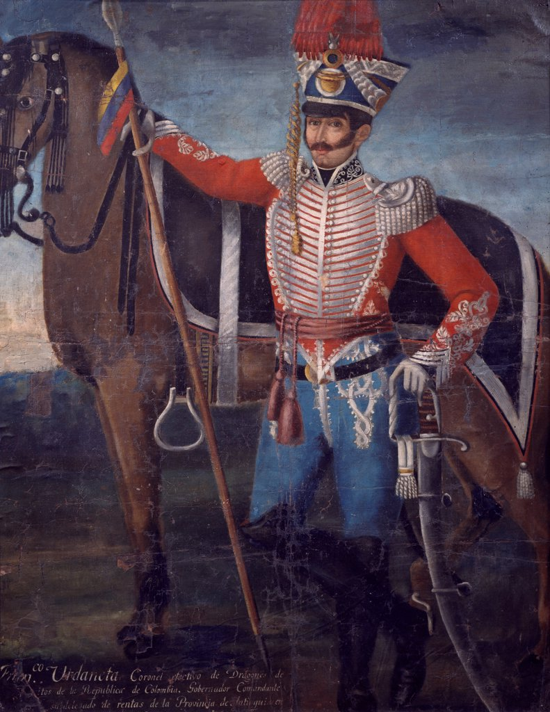 Stock Photo: 1788-52237 Portrait of Colonel Francisco Urdaneta. South America, 19th century.