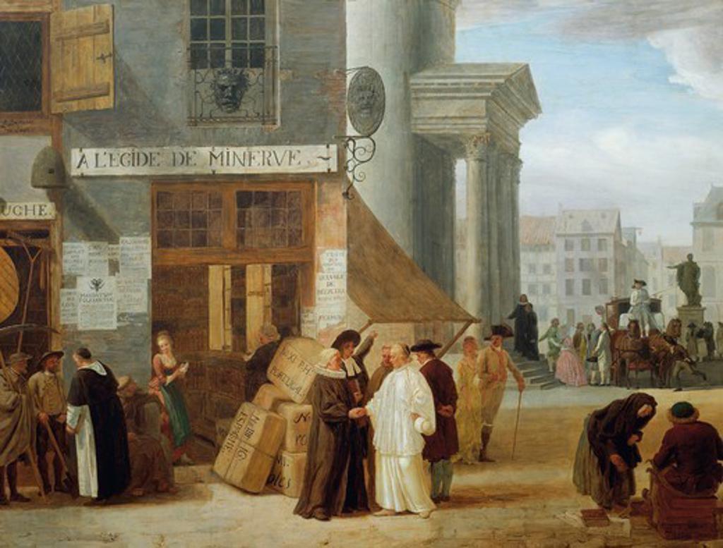 Stock Photo: 1788-52369 A l'Egide de Minerve, in the sign of Minerva, goddess of reason, by Leonard Defrance de Liege (1735-1805). Austria, 18th century.