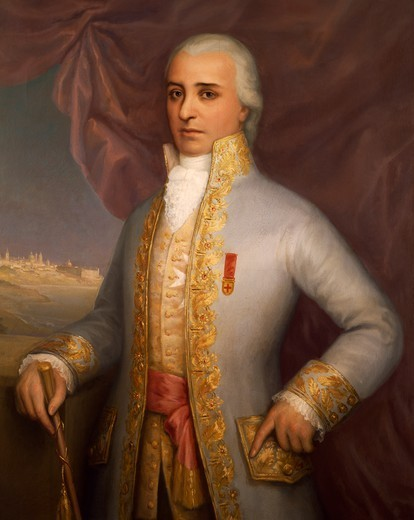 Don Santiago de Liniers y Bremond, viceroy of the Rio de la Plata province, portrait 1807. Argentina, 19th century. : Stock Photo