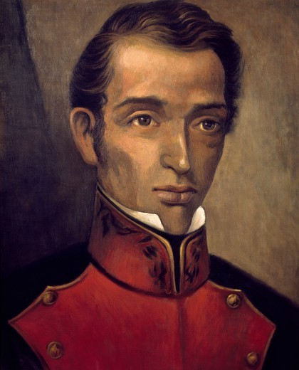 Stock Photo: 1788-53362 Portrait of the Mexican politician Francisco Garcia Salinas (1786-1841). Mexico, 20th century.