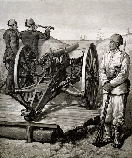 Stock Photo: 1788-53495 The Egyptian artillery in 1882. Anglo-Egyptian War, Egypt, 19th century.