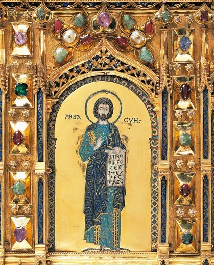Stock Photo: 1788-54609 The prophet Habakkuk, detail from the Pala d'Oro (Golden Pall) altarpiece, St Mark's Basilica, Venice. Italy, 12th-14th century.