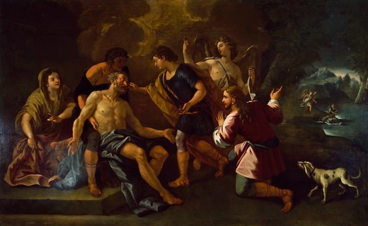 Stock Photo: 1788-54640 Painting by Luca Giordano (1632-1705) preserved in Alvito Town Hall, Lazio. Italy, 17th century.
