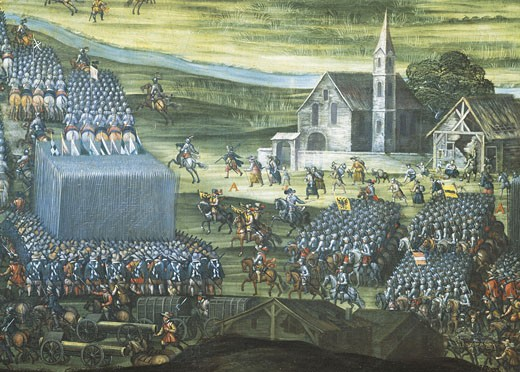 Italy - Lazio Region - Rome. Church of Our Lady of Victory (Santa Maria della Vittoria). Preparation of Weissenberg Battle. 7th November 1620 : Stock Photo