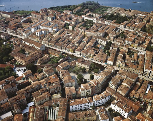Stock Photo: 1788-6171 Italy - Veneto region - Venice. 'New Ghetto'. Aerial view