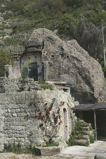 Stock Photo: 1788-6483 Stone dwelling on a mountain, Mount Epomeus, Isle Of Ischia, Campania Region, Italy