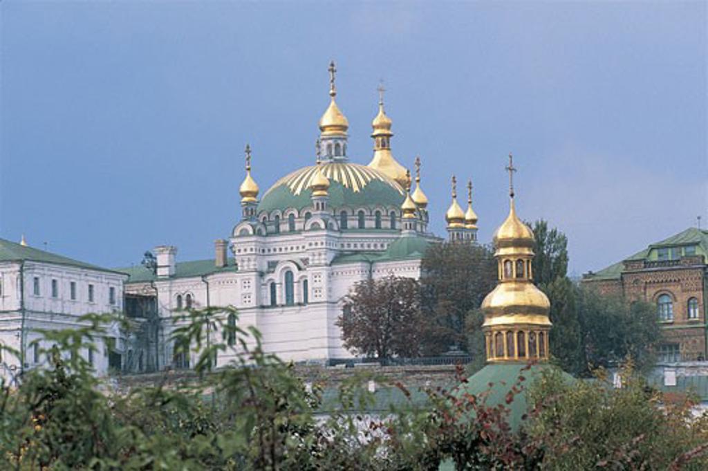 Stock Photo: 1788-6529 Facade of a monastery, Caves Monastery, Kiev, Ukraine