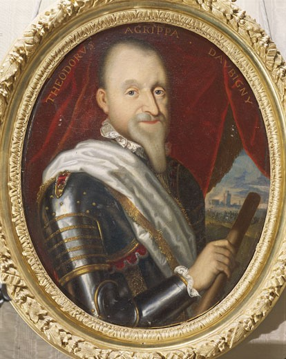 Stock Photo: 1788-6542 France - Maintenon castle - 16th-17th century. The Calvinist poet Théodore-Agrippa d'Aubigné (1552-1630). Portrait