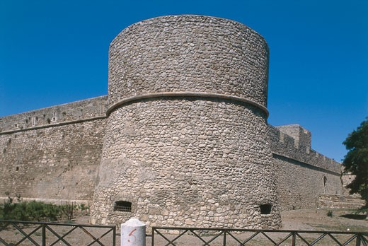 Italy - Apulia Region - Gargano Peninsula - Manfredonia - Castle : Stock Photo
