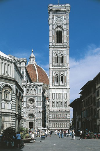 Italy - Tuscany Region - Florence - Santa Maria del Fiore Cathedral (Duomo) - Bell tower : Stock Photo