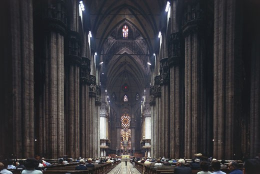 Italy - Lombardy region - Milan. Cathedral, interior : Stock Photo