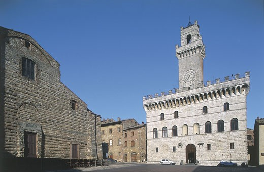 Italy - Tuscany Region - Montepulciano - Town Hall : Stock Photo