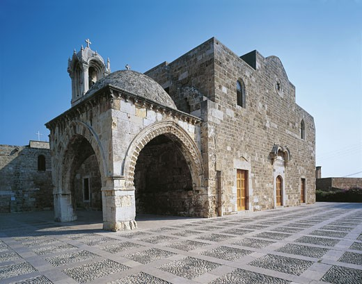 Lebanon - Jubayl (Jbeil) - UNESCO World Heritage List, 1984. Church of St. John the Baptist : Stock Photo