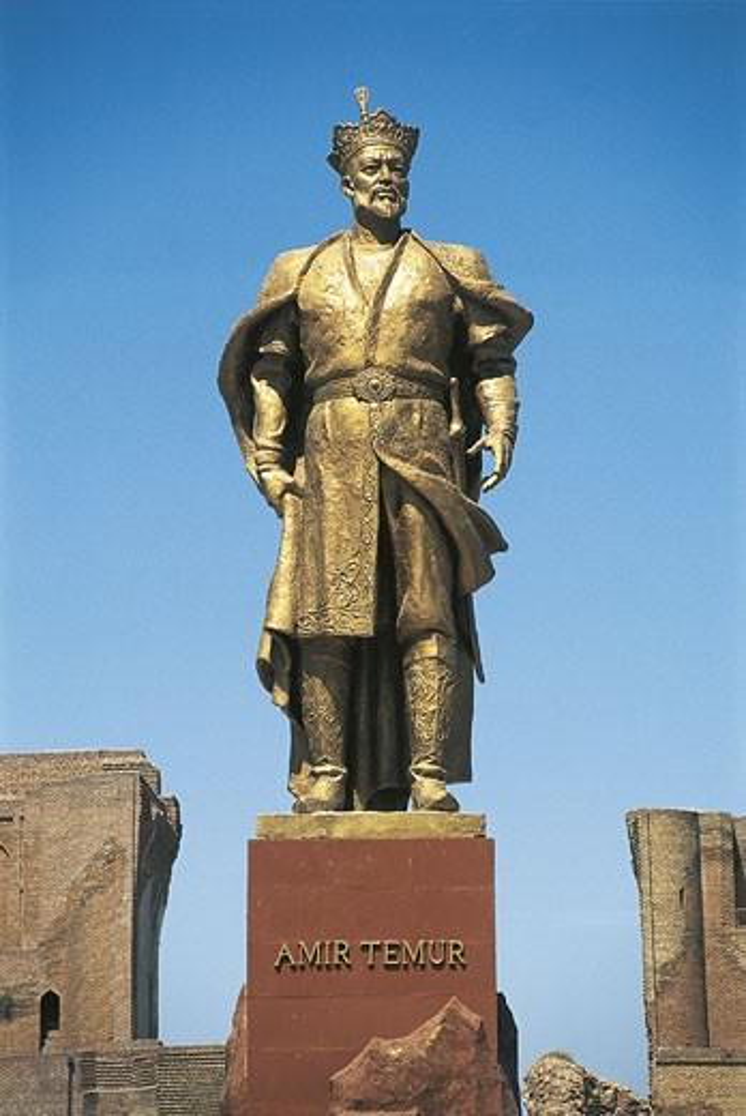 Uzbekistan - Shakhrisabz (Shakhrisyabz). Timur Memorial in the Historic Centre. UNESCO World Heritage List, 2000 : Stock Photo