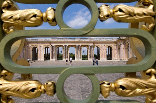 France, Yvelines, Chateau de Versailles, listed as World Heritage by UNESCO, Grand Trianon entrance gate : Stock Photo