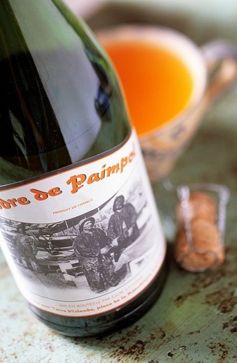 France, Cotes d´Armor, Paimpol, Paimpol cider : Stock Photo