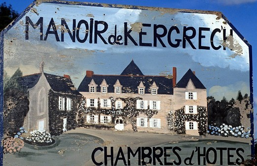 France, Cotes d´Armor, Cote des Ajoncs Tour, panel of Kergrech Manor : Stock Photo