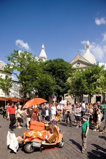 France, Paris, Montmartre Hill : Stock Photo