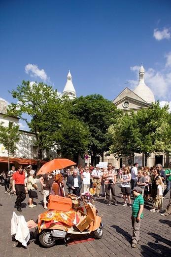 Stock Photo: 1792-101527 France, Paris, Montmartre Hill