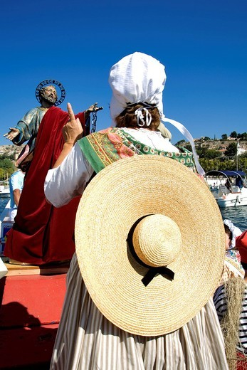 Stock Photo: 1792-102336 France, Bouches du Rhone, Marseille, Saint Pierre´s Day in L´Estaque, blessing at sea