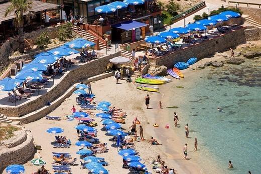Stock Photo: 1792-102962 Malta, Cirkewwa, Paradise Bay beach