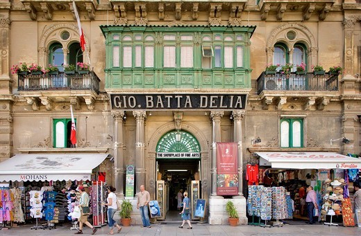 Stock Photo: 1792-102981 Malta, Valletta listed as World Heritage by the UNESCO, commercial building in the historical city center