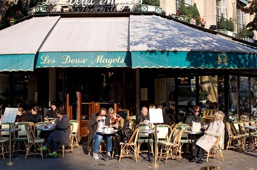 Stock Photo: 1792-103770 France, Paris, Saint Germain des Pres District, Les Deux Magots Cafe