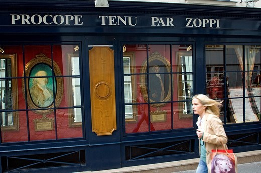 Stock Photo: 1792-103779 France, Paris, Cour de l´Ancienne Comedie, Le Procope Restaurant, the oldest restaurant in Paris opened in 1686