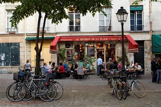 Stock Photo: 1792-104056 France, Paris, Place du Marche Sainte Catherine