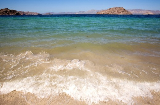 Mexico, Baja California Sur, Sea of Cortes listed as World Heritage by UNESCO, Playa Coyote : Stock Photo