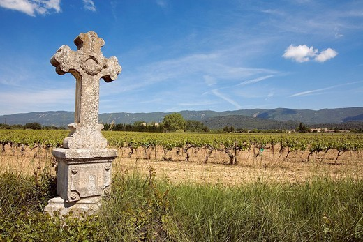 Stock Photo: 1792-105229 France, Vaucluse, Luberon, Aigues valley, Saint Martin de la Brasque, calvary