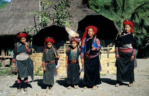 Vietnam, Red Hmong ethnic group : Stock Photo