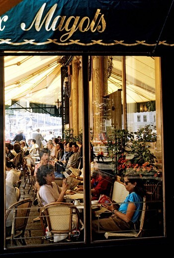 Stock Photo: 1792-106941 France, Paris, Saint Germain des Pres District, Les Deux Magots Cafe