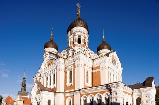 Stock Photo: 1792-107138 Estonia Baltic States, Harju Region, Tallinn, historical centre, listed World Heritage by Unesco, Toompea Hill, Alexandre Nevski Orthodoxe Cathedral