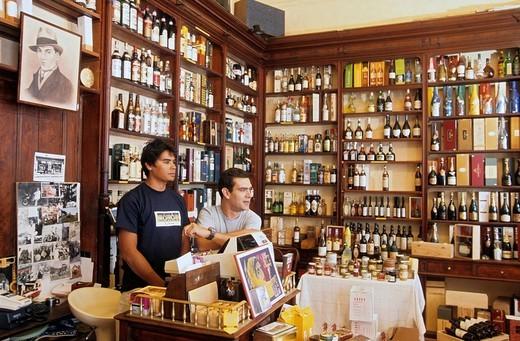 France, Pyrenees Atlantiques, Biarritz, Chez Arosteguy fine food store, established 1876 : Stock Photo