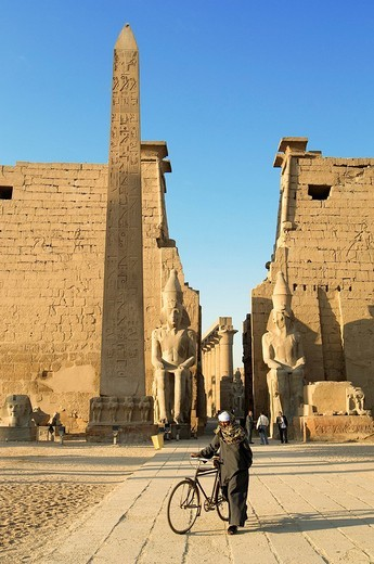 Stock Photo: 1792-108867 Egypt, Upper Egypt, Nile Valley, Luxor Temple listed as World Heritage by UNESCO