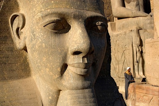 Stock Photo: 1792-108874 Egypt, Upper Egypt, Nile Valley, Luxor Temple listed as World Heritage by UNESCO, Ramses II´s head