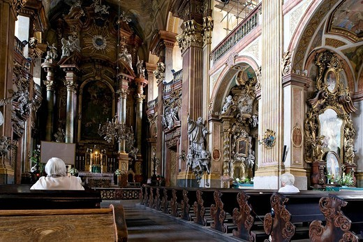 Poland, Silesia region, Wroclaw, the Baroque church of the Holy Name of Jesus : Stock Photo