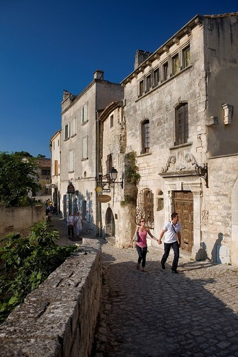 France, Bouches du Rhone, Alpilles, Les Baux de Provence, labelled Les Plus Beaux Villages de France The Most Beautiful Villages of France : Stock Photo