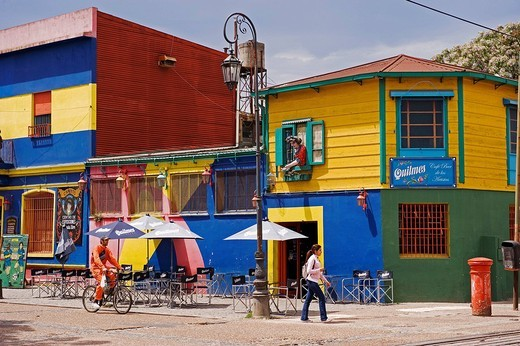 Stock Photo: 1792-111609 Argentina, Buenos Aires, La Boca District