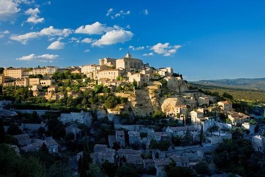 France, Vaucluse, Gordes, labelled the Plus Beaux Villages de France the Most Beautiful Villages of France : Stock Photo