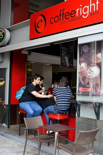 Greece, Athens, cafe : Stock Photo