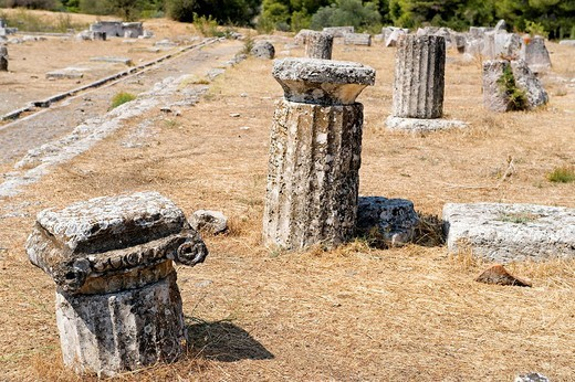 Greece, Peloponnese Region, the archaeological site of Epidaurus, listed as World Heritage by UNESCO : Stock Photo