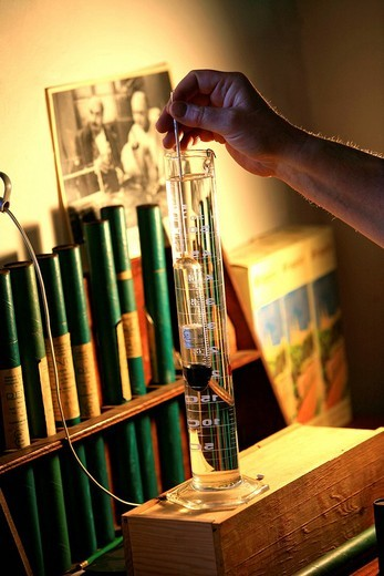 France, Bouches du Rhone, Chateaurenard, Frigolet Distillery, compulsory mention : Stock Photo